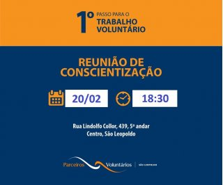 ACIST SL - Associação Comercial, Industrial, de Serviços e Tecnologia de São Leopoldo - Voluntários terão encontro no dia 20